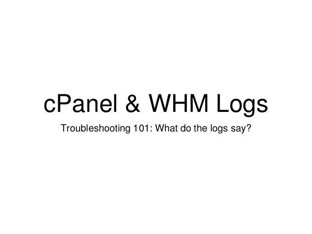 cPanel & WHM Logs