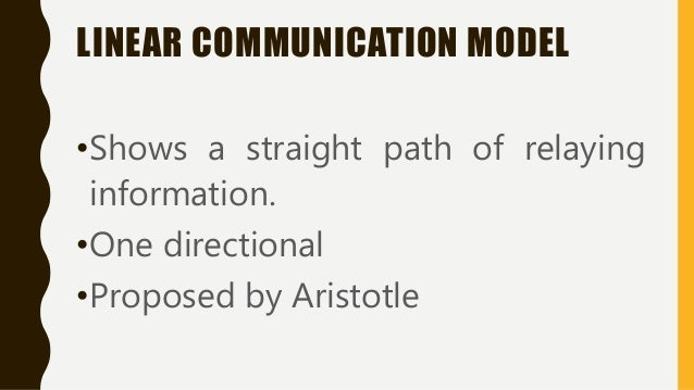 the nature of oral communication One-way communication is essentially a flawed communication model when compared to the two-way approach essentially, what makes this a problem is the reduced availability of feedback, likely leading to misunderstanding.