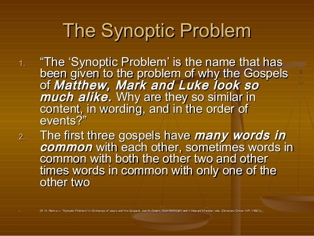 synoptic gospels This lecture is graciously provided by bay presbyterian church in bonita springs,  fl read more on gospel, gospel of john, holy spirit, new.