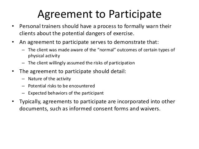 Week 1 scope of practice agreement to participate personal trainers altavistaventures Choice Image
