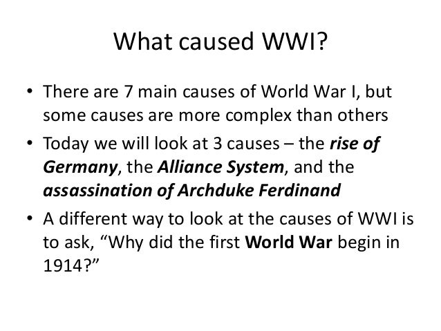 Week 1 – the causes of world war