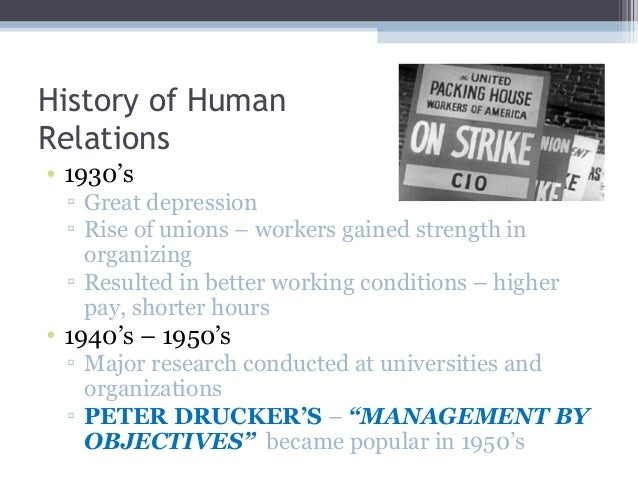 history of human relations