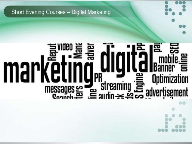 Short Evening Courses – Digital Marketing