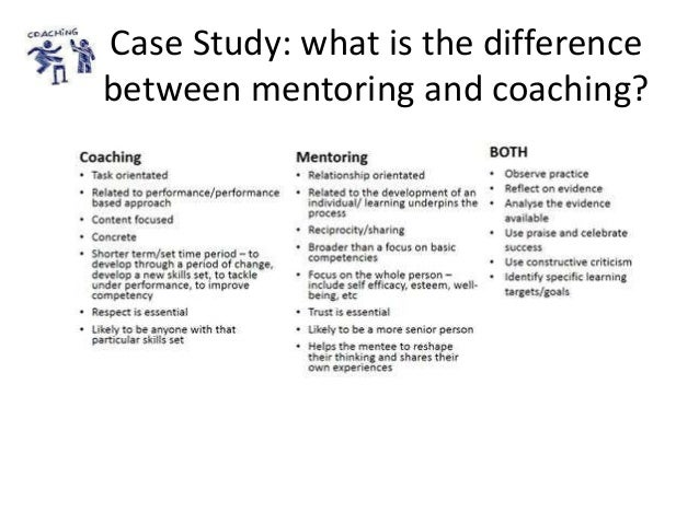 Case Study: what is the difference between mentoring and coaching?