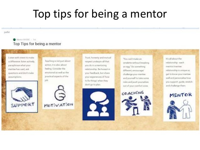Top tips for being a mentor
