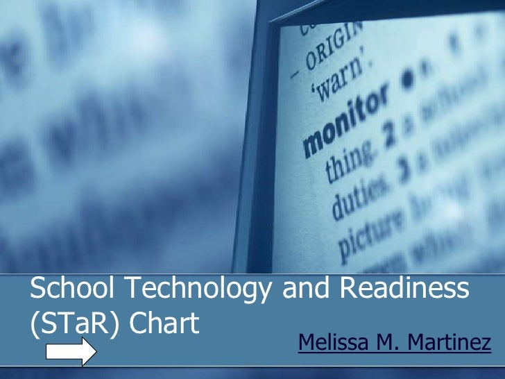 School Technology and Readiness(STaR) Chart<br />Melissa M. Martinez<br />