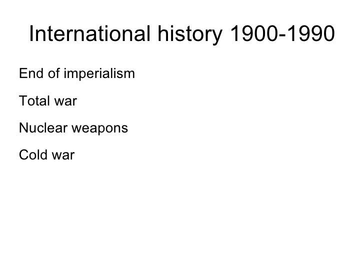 a history of the cold war and the significance of the dominating ideologies A general overview of the cold war the cold war was an ideological war  the two became rivals through conflicting ideologies and mutual  world history.