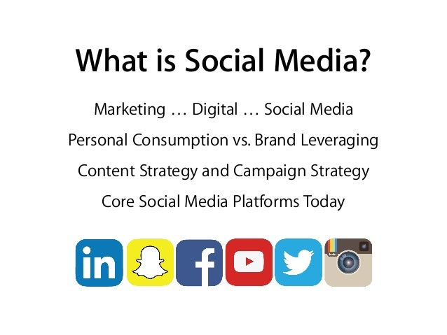 What is Social Media? Marketing … Digital … Social Media Personal Consumption vs. Brand Leveraging Content Strategy and Ca...