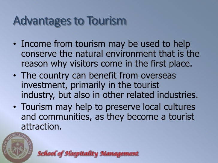 advantages of tourism essay