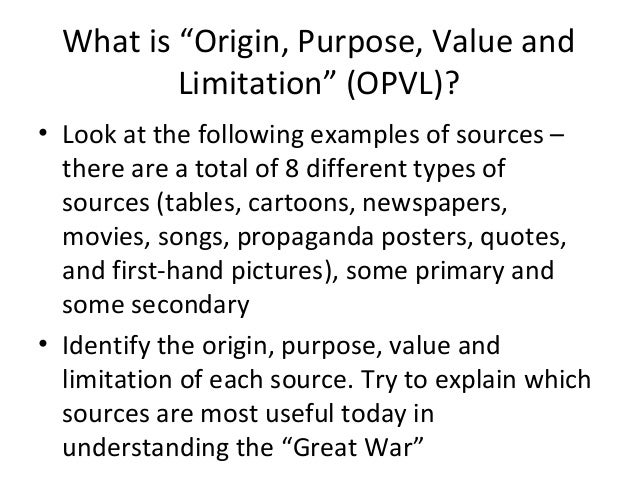 opvl chart Assessment alignment chart: how will you know they know the objectives listed   summative: students will use this practice to complete the opvl portion of the.