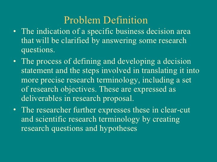 develop problem statement research paper