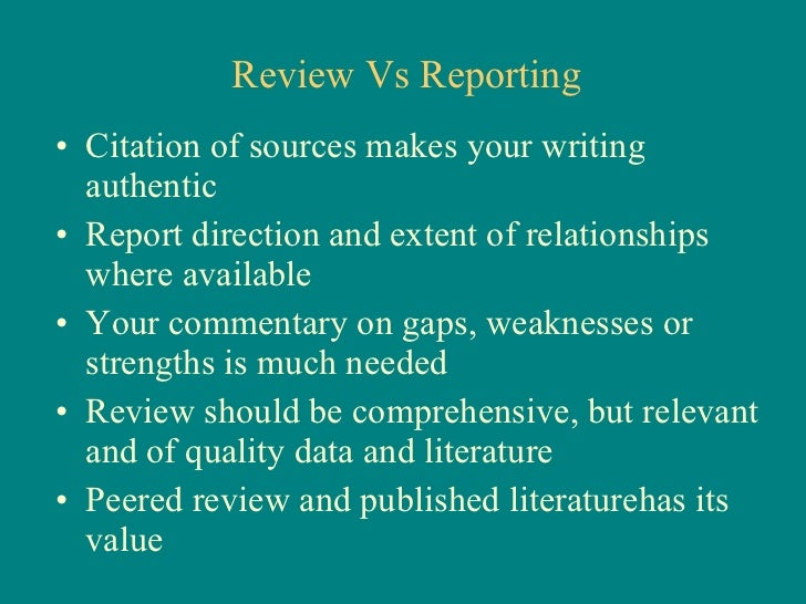definition of literature review in research paper