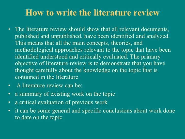 Choosing Best Literature Review Topics