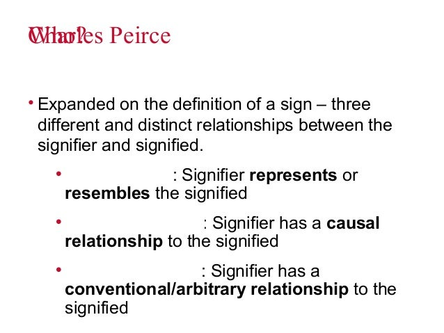 the relationship between signifier and signified is never