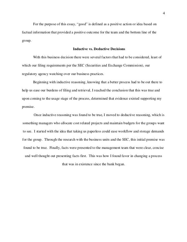 deductive essay example related post of deductive reasoning essay  4 deductive essay example