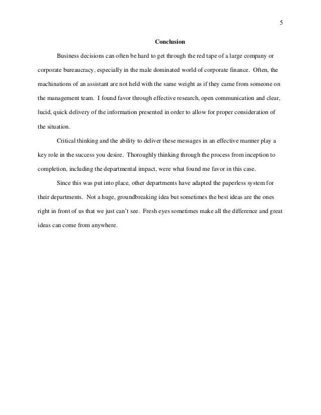 week argumentative essay 5 5 conclusion business decisions