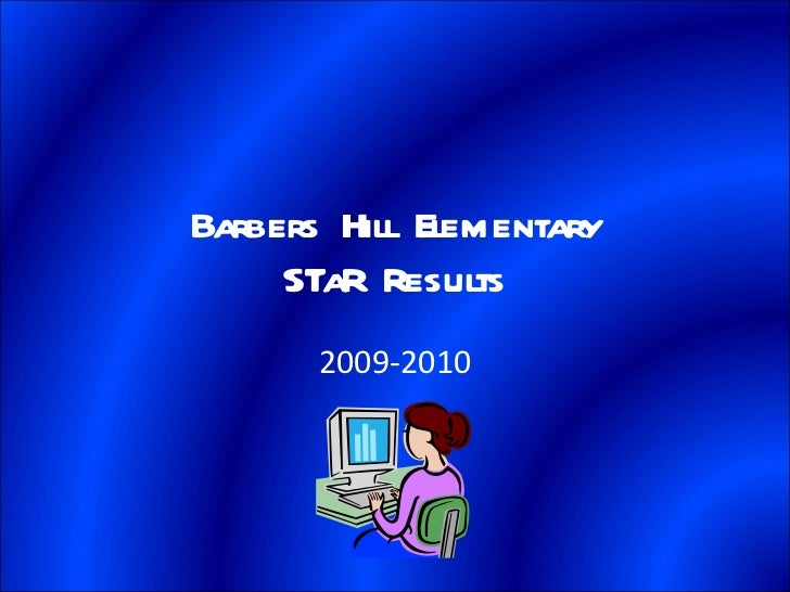 Barbers Hill Elementary STaR Results 2009-2010