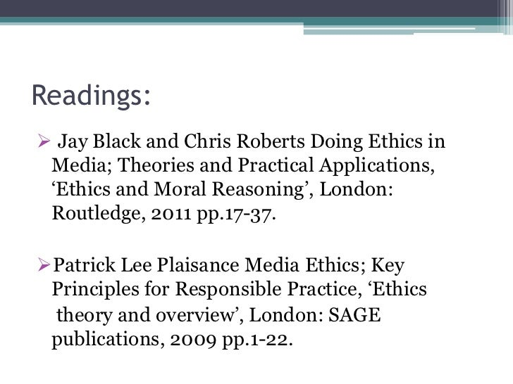 doing ethics in media theories and practical applications pdf
