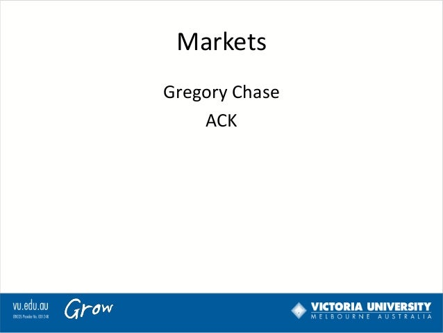 Markets Gregory Chase ACK