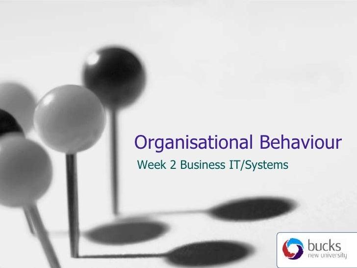 Organisational Behaviour<br />Week 2 Business IT/Systems<br />