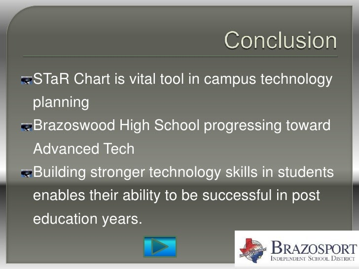 STaR Chart is vital tool in campus technology planning Brazoswood High School progressing toward Advanced Tech Building st...