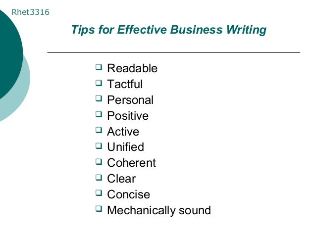 business writing examples