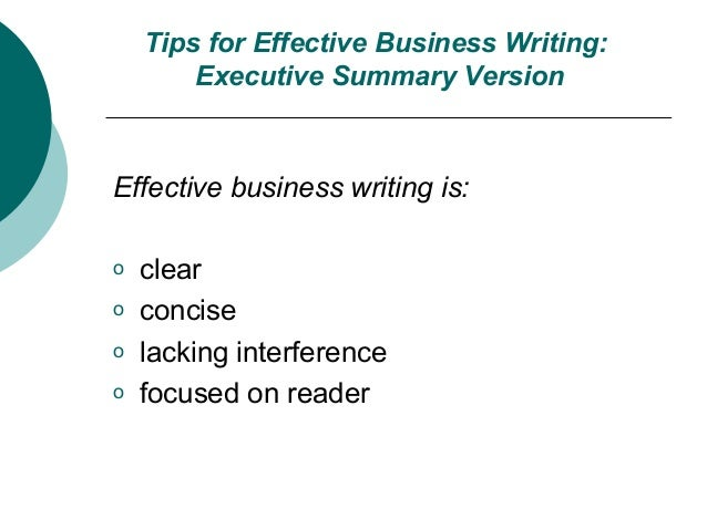 effective business writing tutorials