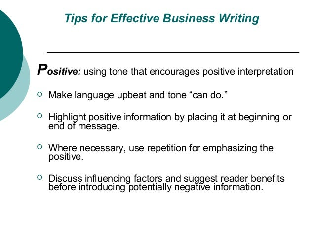tips for effective business writing skills