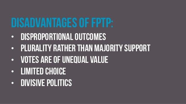 Advantages of fptp essay