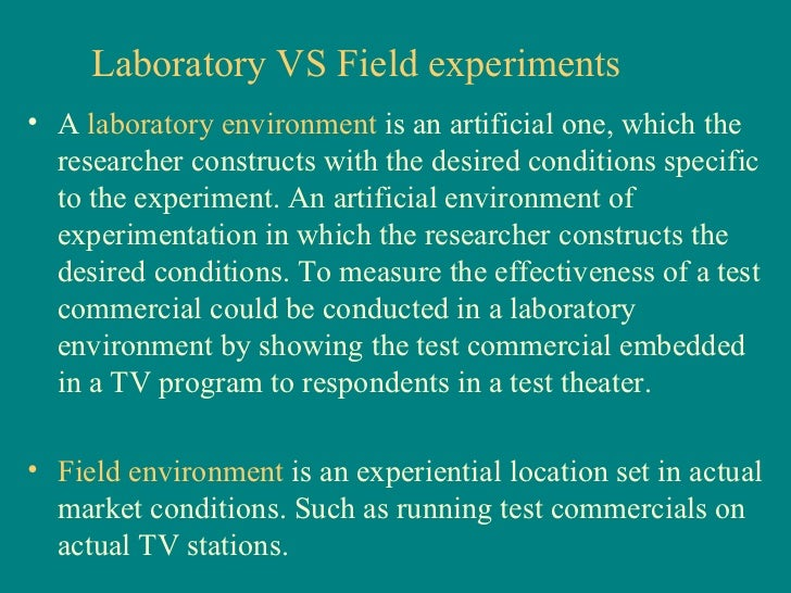 Laboratory and Field Experiments Flashcards | Quizlet
