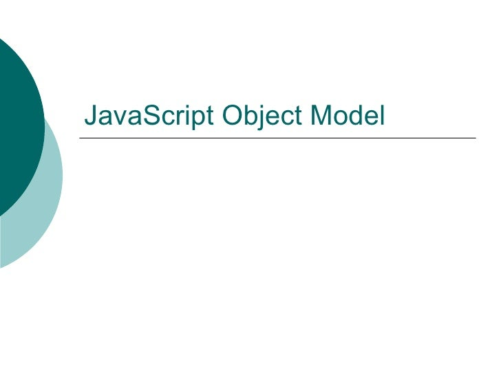 JavaScript Object Model