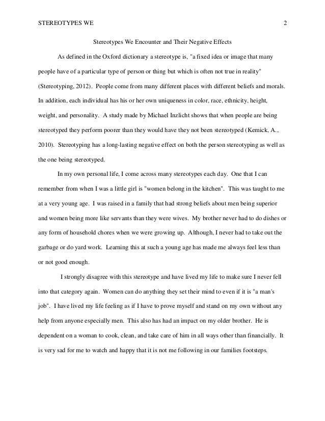 stereotype essay examples co stereotype essay examples