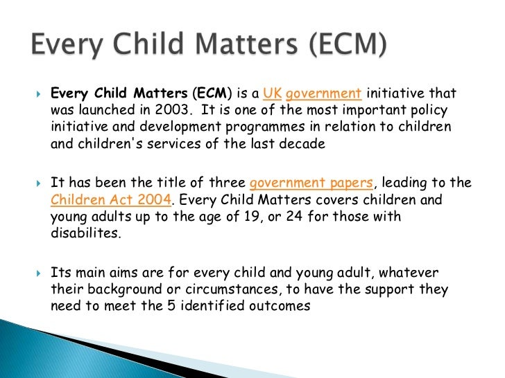 every child matters 2004 5 outcomes