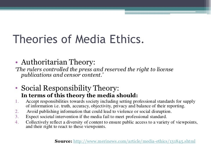 ethics with the actual press articles