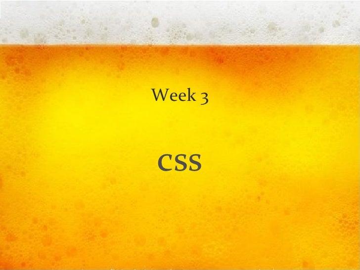 Week 3 css