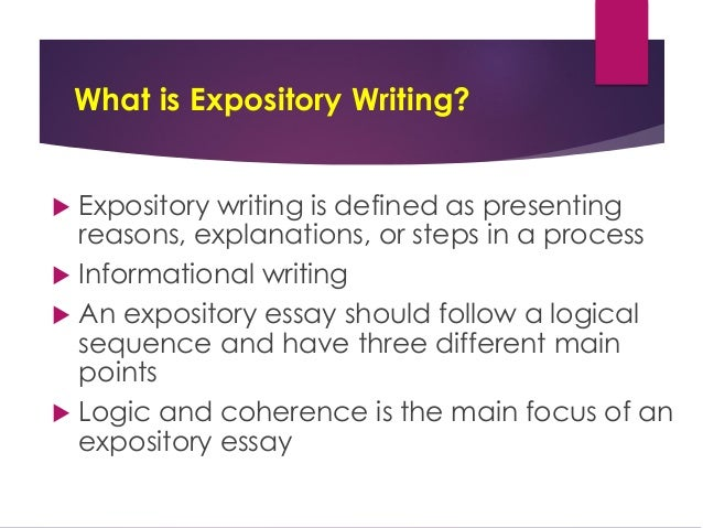 Expository Writing THE U201cHOW AND WHYu201d OF WRITING; 2.