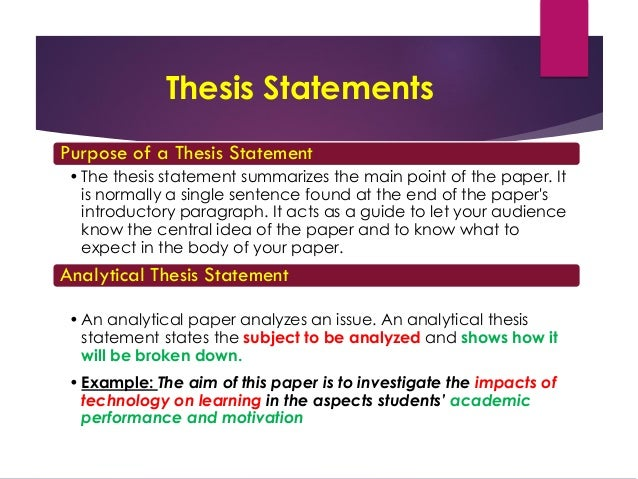 week introduction to research writing analytical thesis