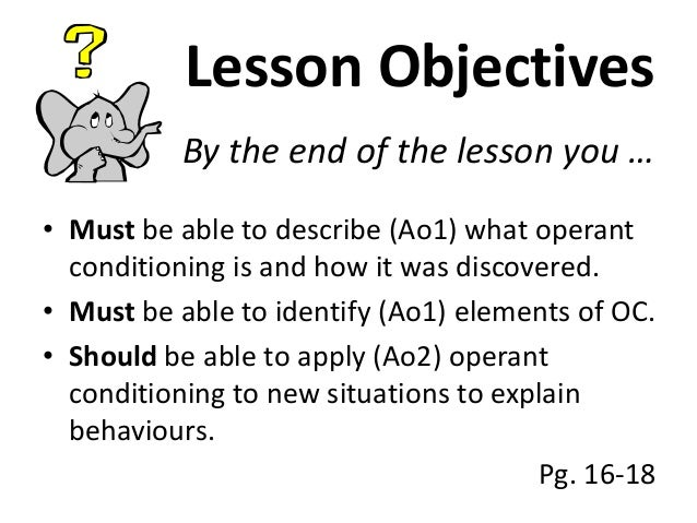 Week 3 Little Albert and Operant Conditioning Introduction – Operant Conditioning Worksheet