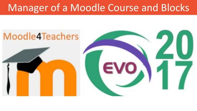 Manager of a Moodle Course and Blocks