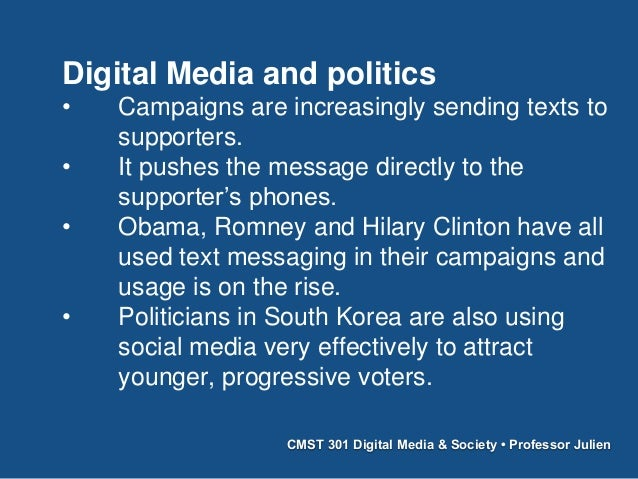 cmst 301 Cmst 301 political communication 5 credits how americans use oral and televisual communication to confront and change their environment emphasis on american.