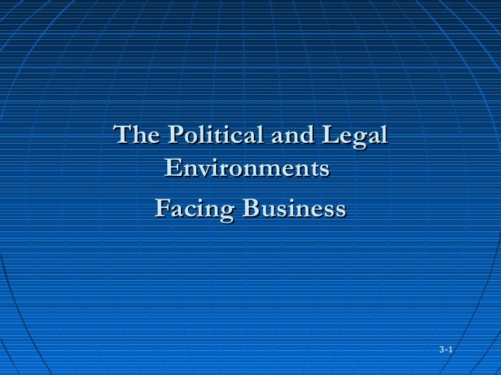 The Political and Legal    Environments   Facing Business                          3-1
