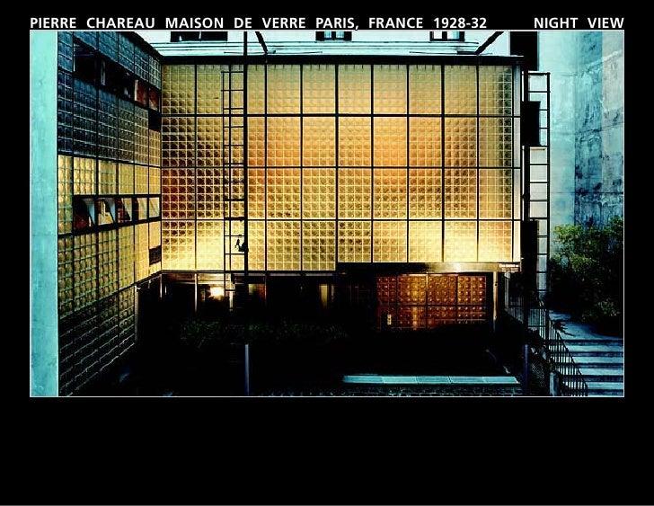 PIERRE CHAREAU MAISON DE VERRE PARIS, FRANCE 1928-32   NIGHT VIEW