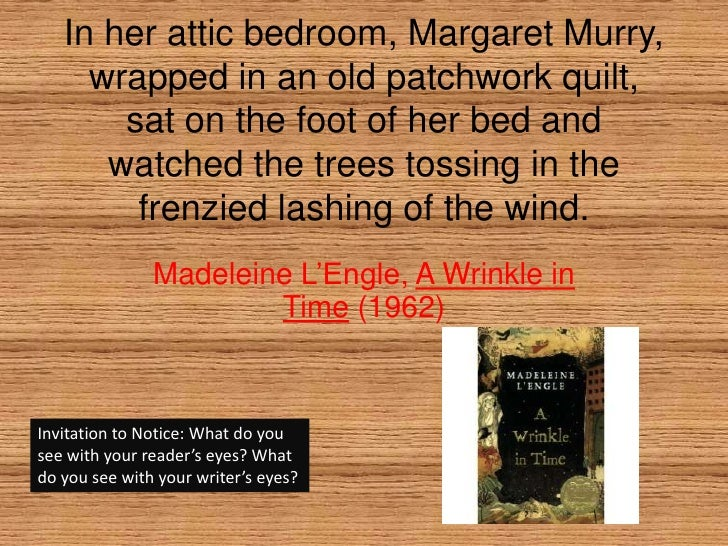 In her attic bedroom, Margaret Murry, wrapped in an old patchwork quilt, sat on the foot of her bed and watched the trees ...