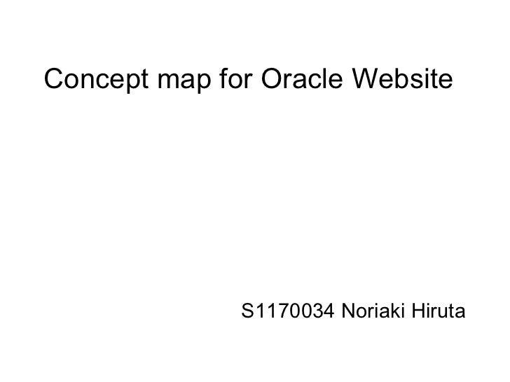 Concept map for Oracle Website  S1170034 Noriaki Hiruta