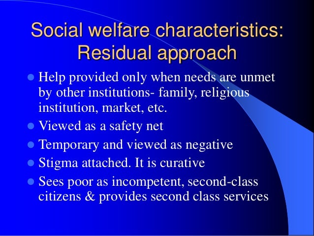 residual welfare model of social policy
