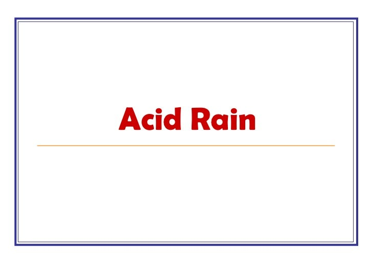 an introduction to the issue of acid rain in todays environment Introduction environmental impacts  gases from incineration may cause air pollution and contribute to acid rain, while the ash from incinerators may contain .