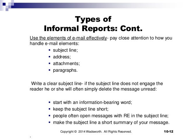 how to write an informal report Shelternetbccom.