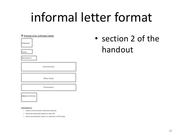 How To Write A Informal Letter Layout