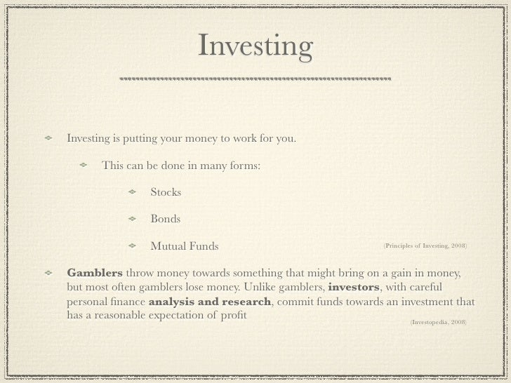 investing 101 essay Manage $100,000 with wall street survivor's stock trading game our virtual stock exchange is a great way to learn investing 101 stock game.
