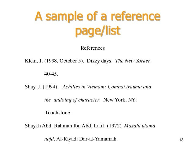 how to arrange references in alphabetical order apa